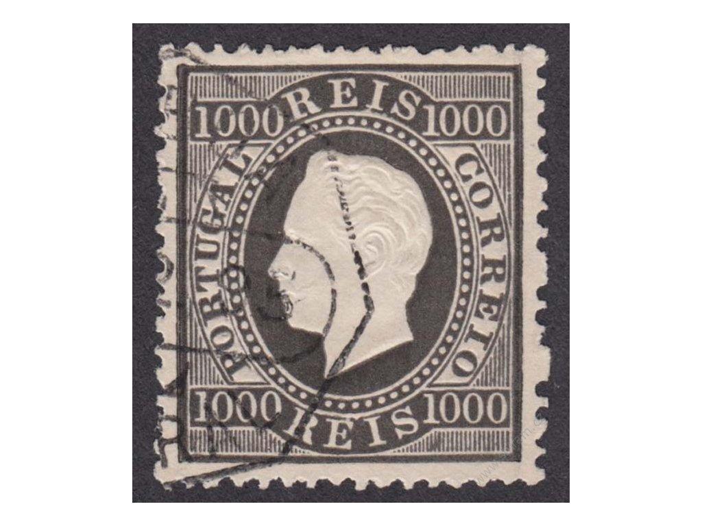 1884, 1000R Luis, MiNr.61C, razítkované