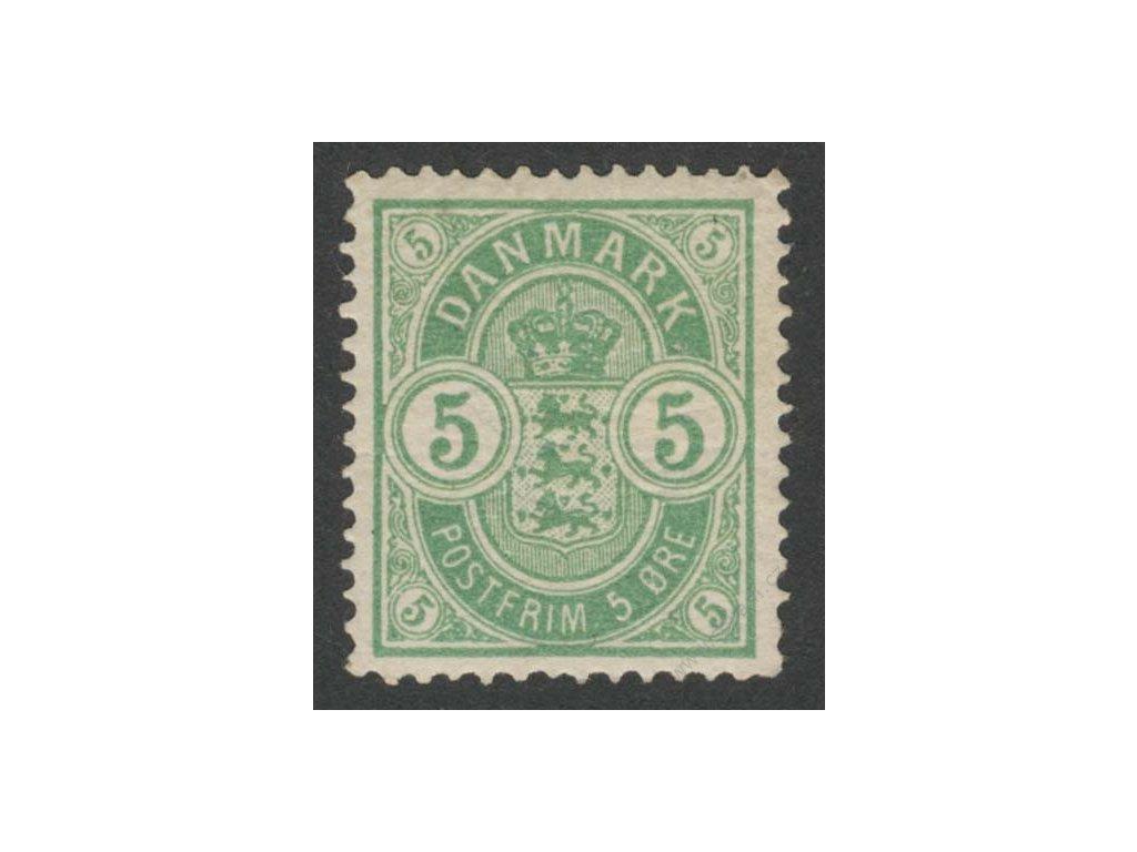 1884, 5Q zelená, MiNr.34YA, * po nálepce