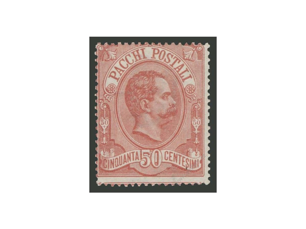 1884, 50C Paketmarken, MiNr.3, * po nálepce