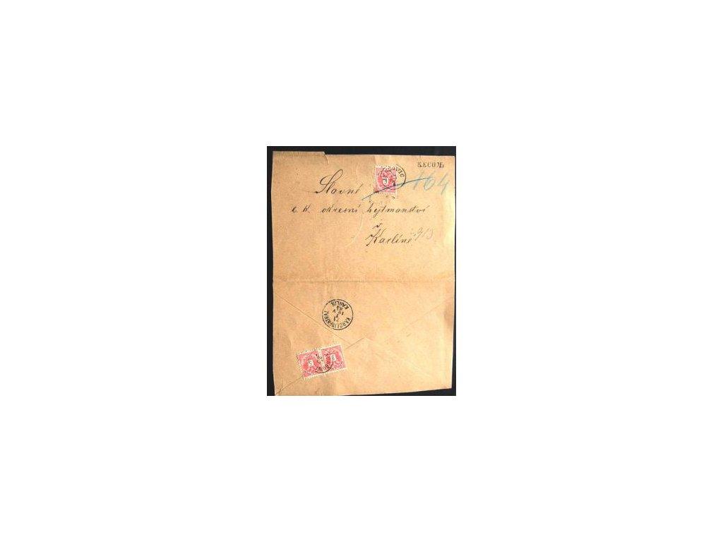 1885, R-dopis vyfr. zn. 3krát 5Kr vyd. 1883