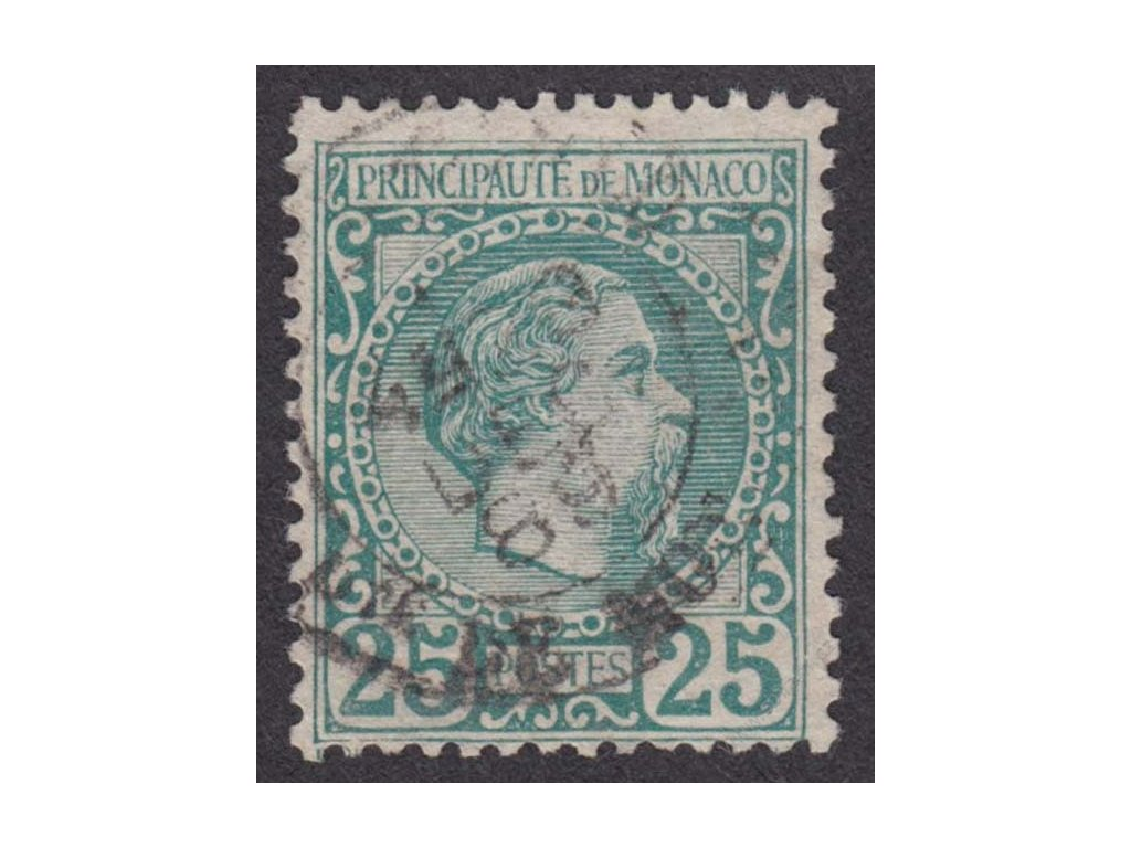 1885, 25C Charles, MiNr.6, razítkované