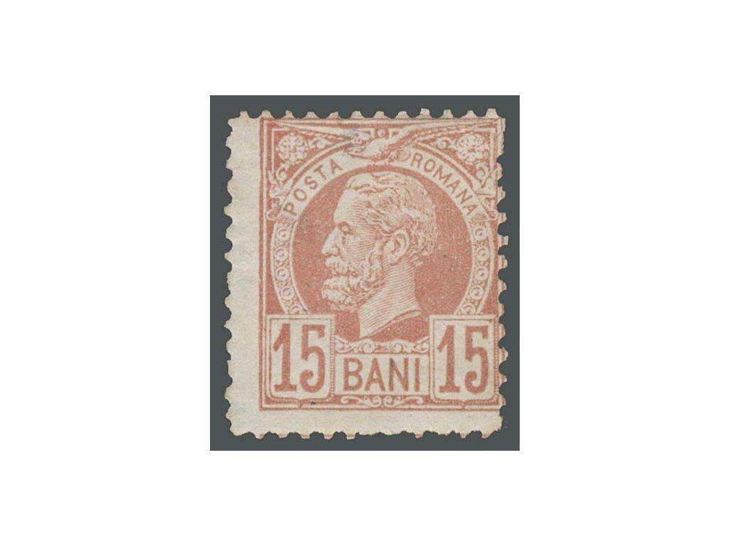 1885, 15B Karel, MiNr.65, * po nálepce, lehké zeslabení