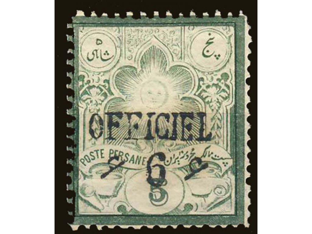 Irán, 1886, 6Ch/5Ch zelená, Mi.80Euro, Nr.57I, **