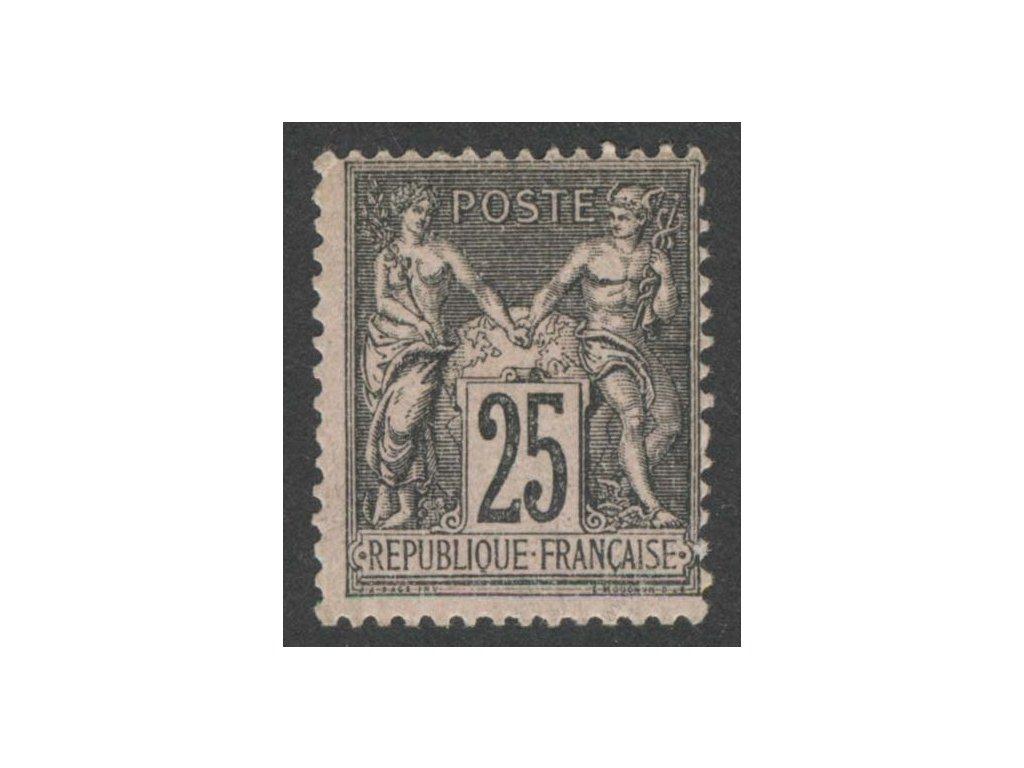 1886, 25C Alegorie, Mi.160Eur, MiNr.80, **