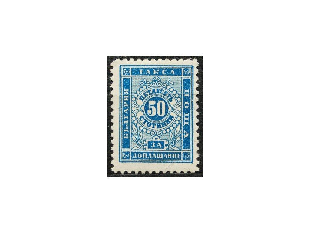 1887, 50St doplatní, MiNr.9, * po nálepce