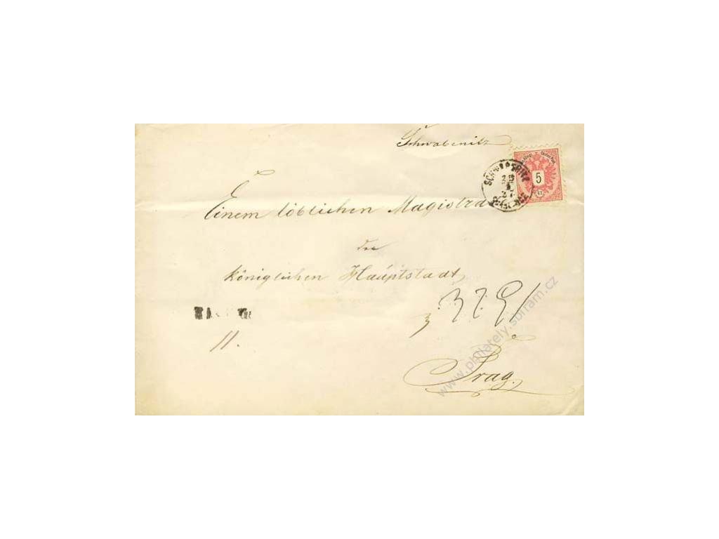 1887, DR Švábenice, R-dopis