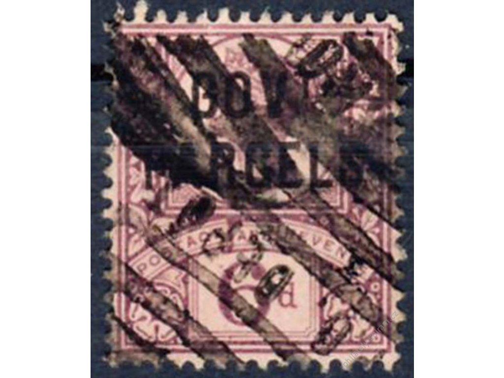 1887, 6P s přetiskem GOVT, MiNr.29, razítkované