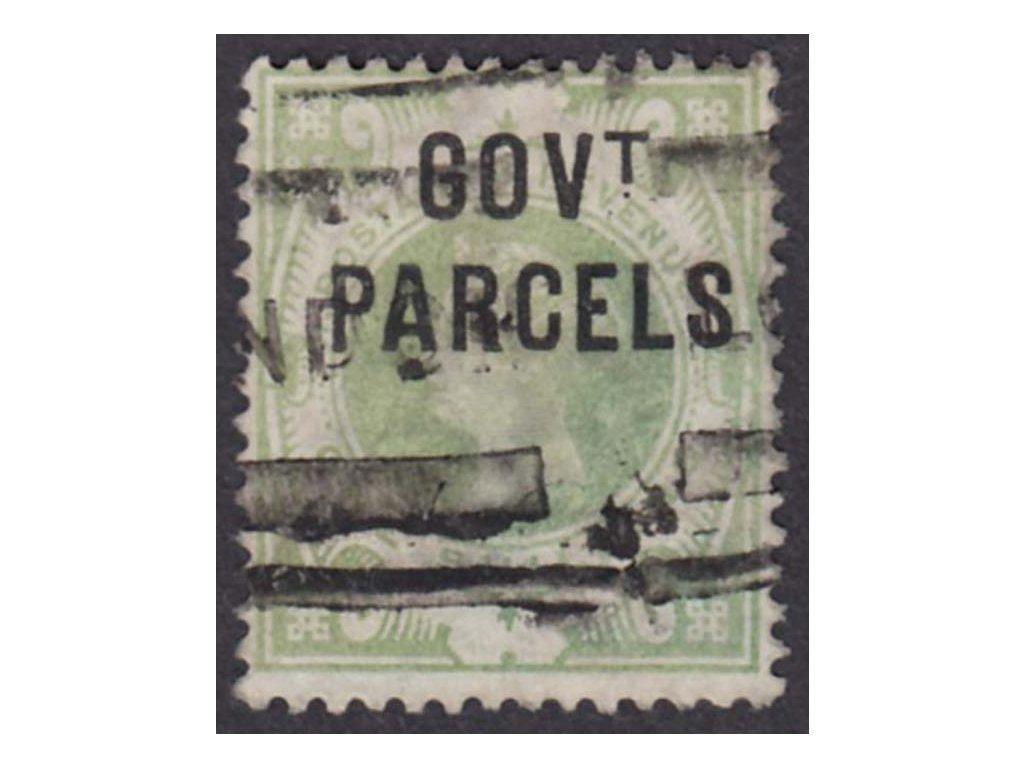 1887, 1Sh služební, GOVt. PARCELS, MiNr.31, razítkované