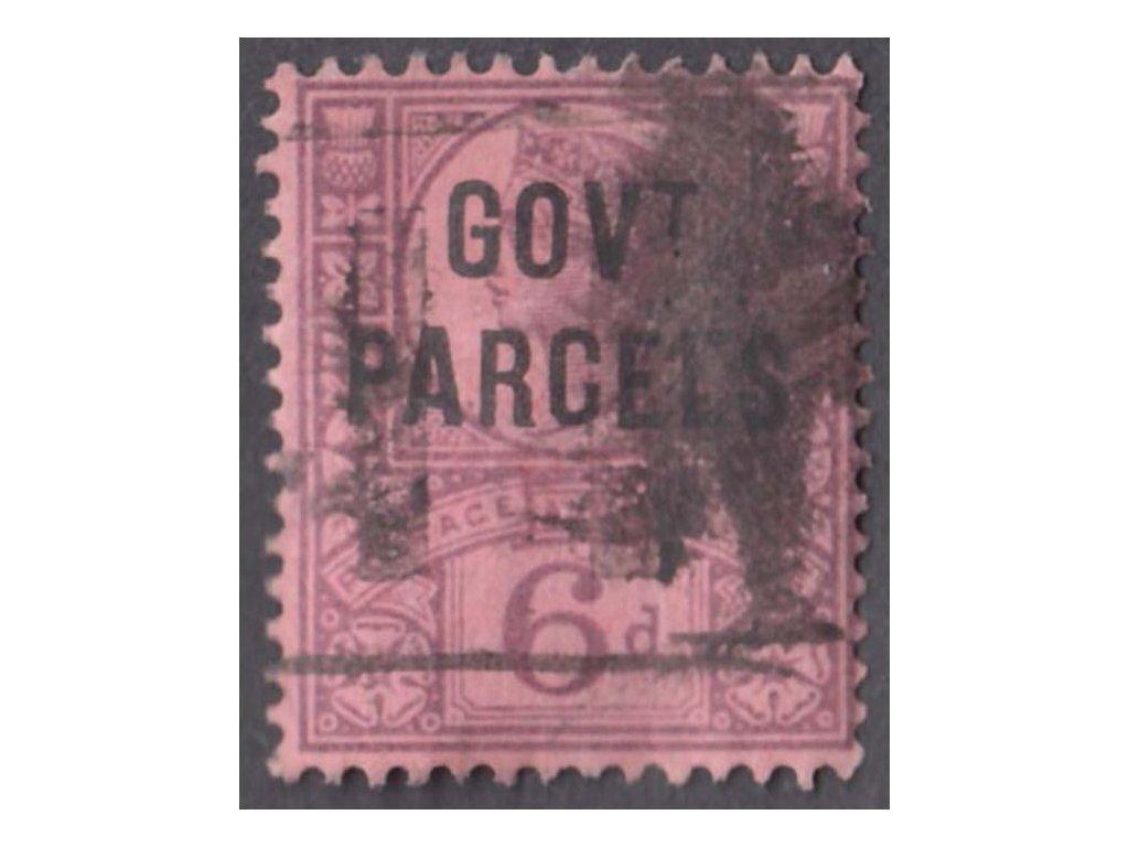 1887, 6P služební, GOVt. PARCELS, MiNr.29, razítkované
