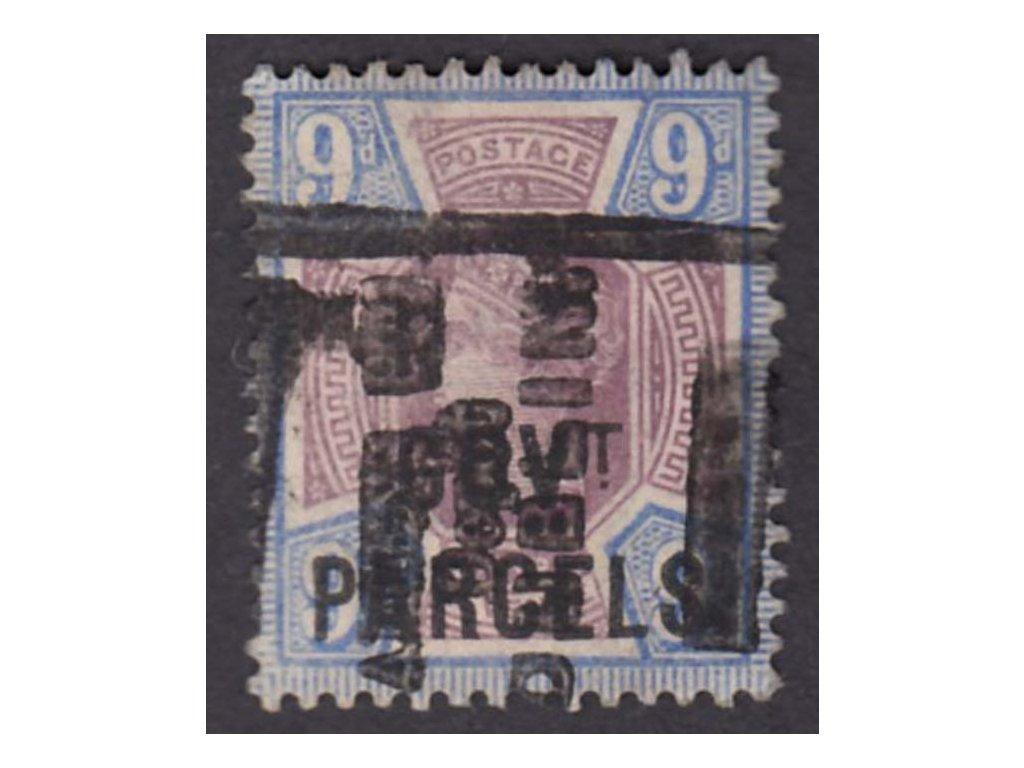 1887, 9P Viktoria, GOVT.PARCELS, MiNr.30, razítkované, dv