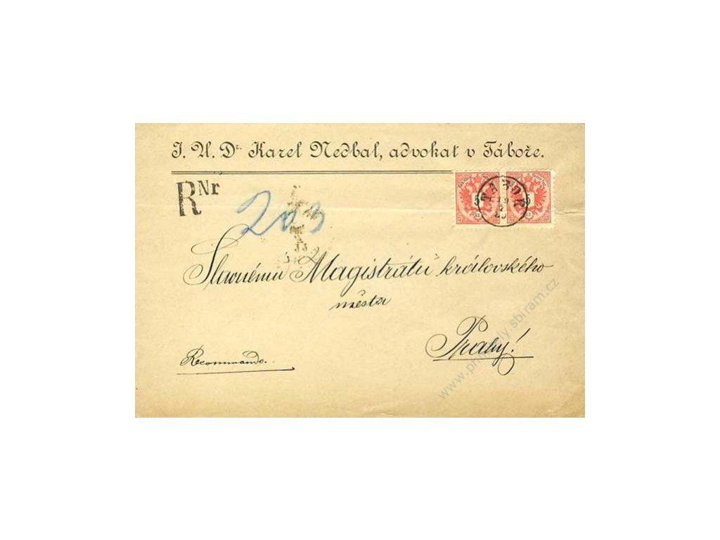 1889, DR Tábor, dopis, horší jakost