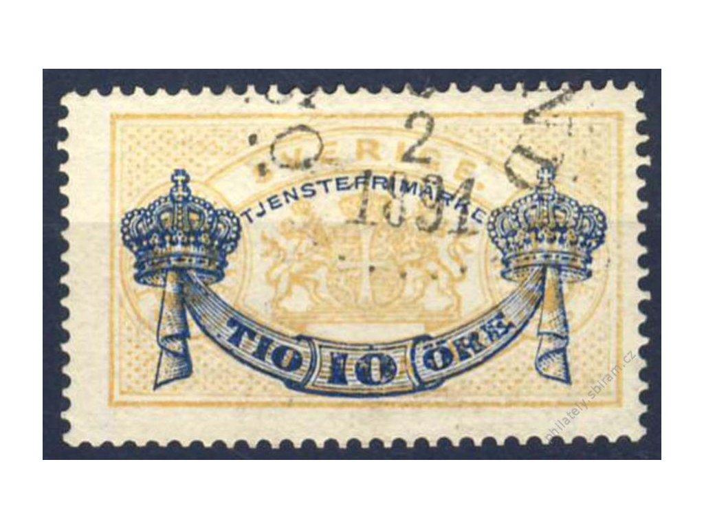 1889, 10Ö/24Ö služební, MiNr.13, razítkované