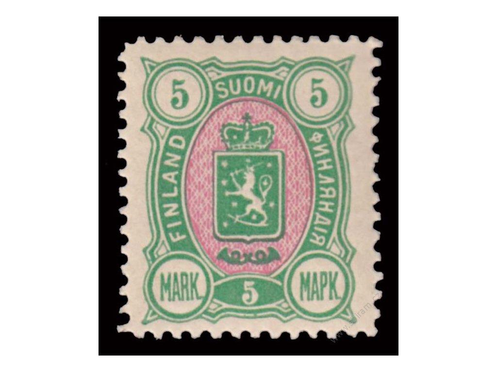 1889, 5M Znak, MiNr.33A, * po nálepce