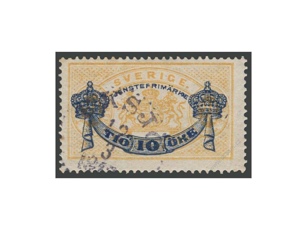1889, 10Ö/24Ö služební, MiNr.13, razítkované, původní lep