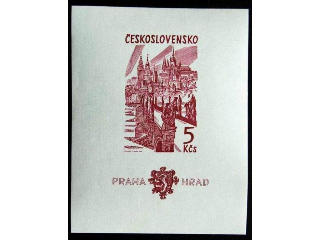 1964, 5Kčs aršík Pražský hrad, Nr.A1393 **
