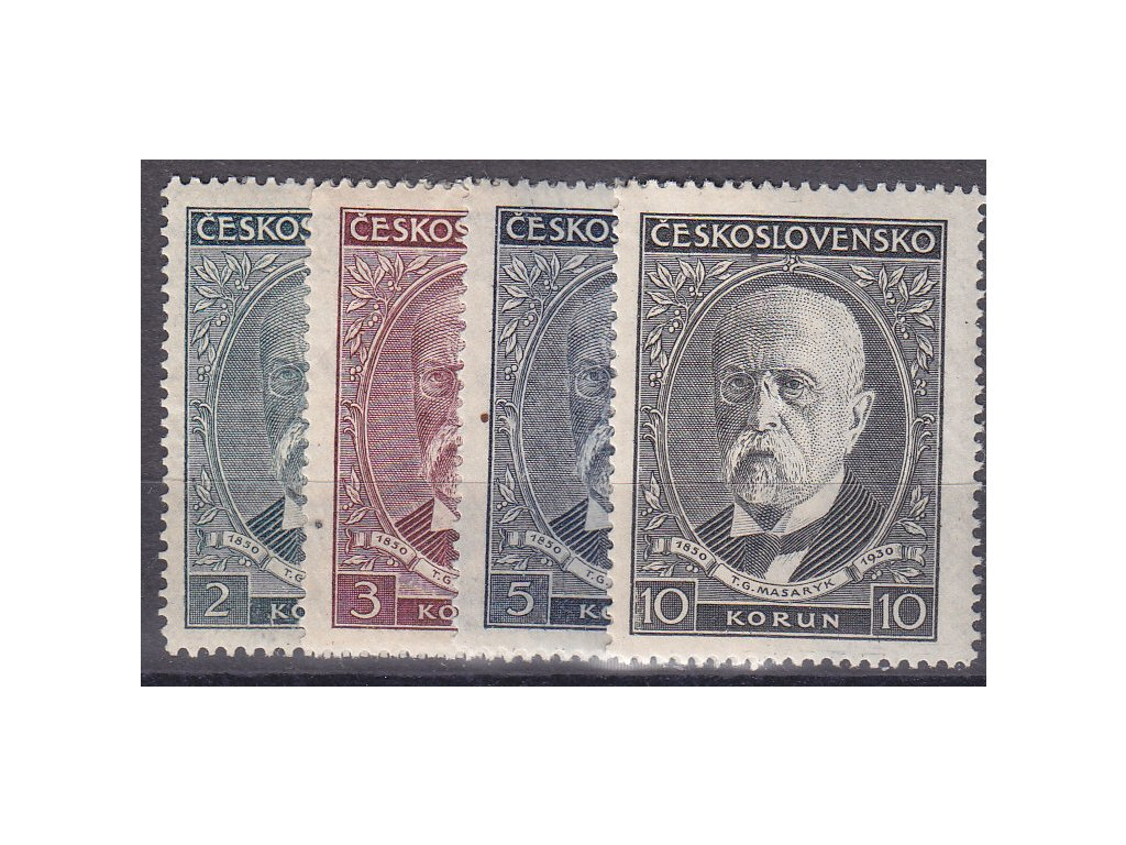 1930, 2-10Kč série TGM, Nr.261-4, **