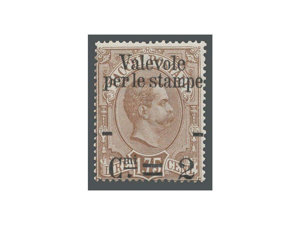 1890, 2C/1.75L novinová, MiNr.66, * po nálepce
