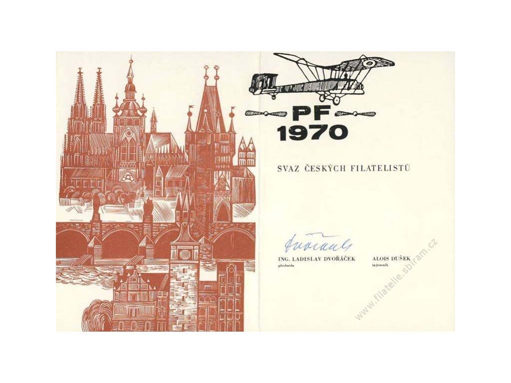 Dvořáček (předseda SČF), podpis na PF 1970