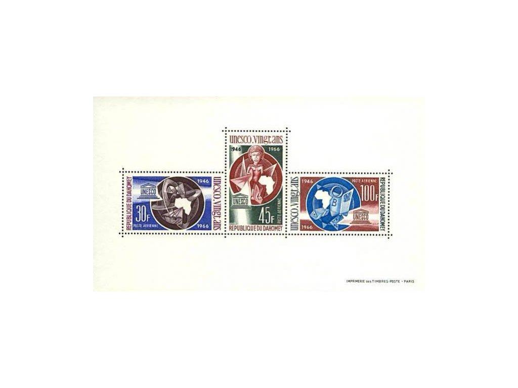 Dahomey, 1966, aršík, MiNr.Bl.6, **