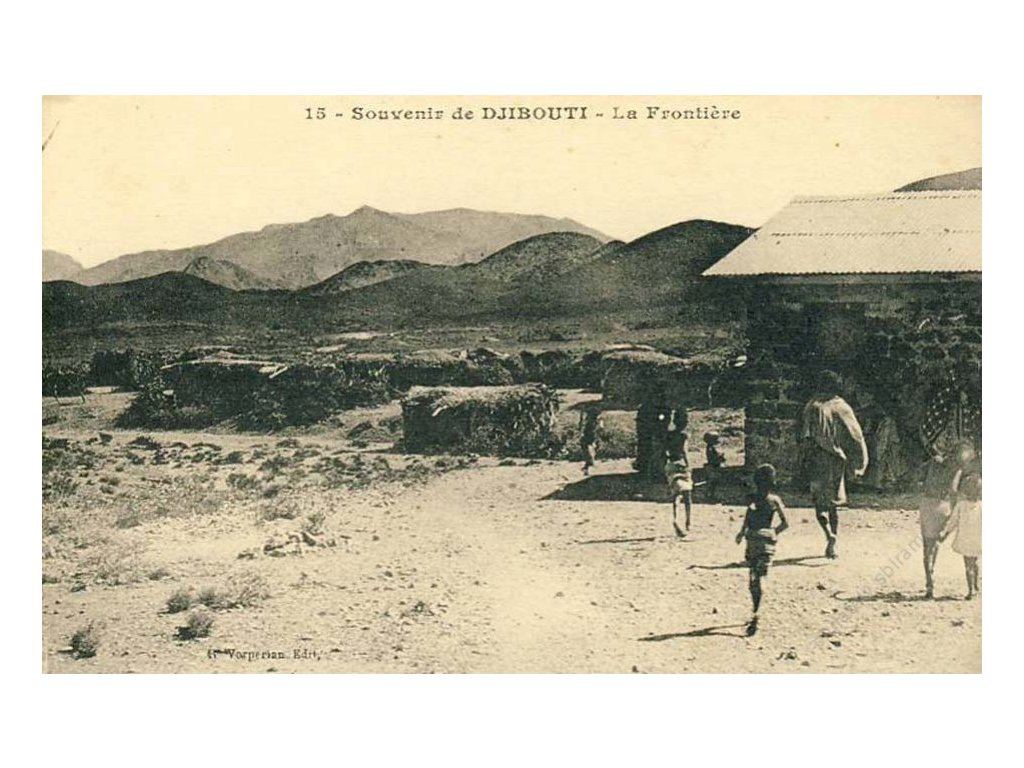 Djibouti, 1900, La Frontiere, pohlednice, neprošlé