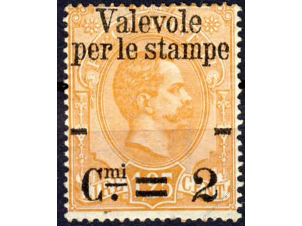 1890, 2C/1.25L oranžová, Mi.45Euro, * po nálepce