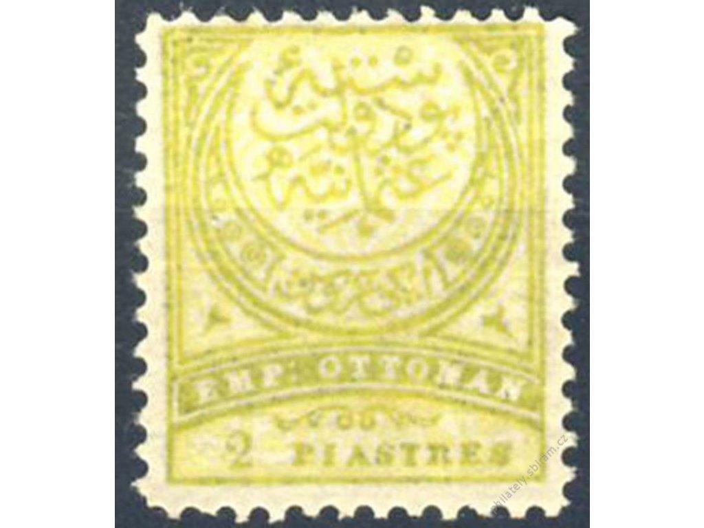 1890, 2Pia Znak, Mi.80Euro, MiNr.62B, * po nálepce