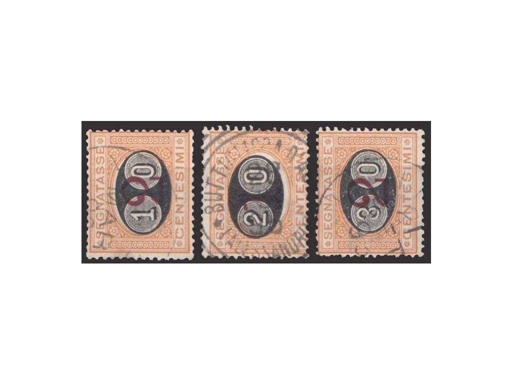 1890/91, 10C/2C-30C/2C doplatní série, razítkované