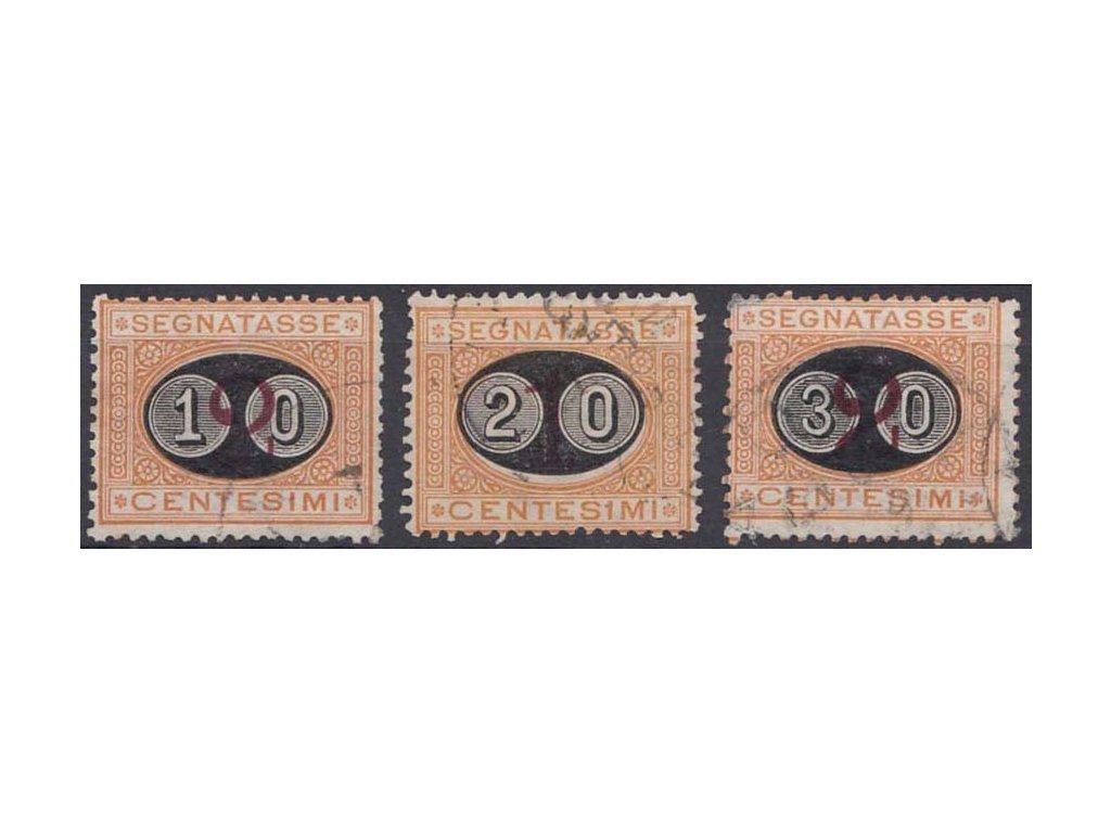 1890/91, 10(C)/2C-30(C)/2C doplatní série, razítkované