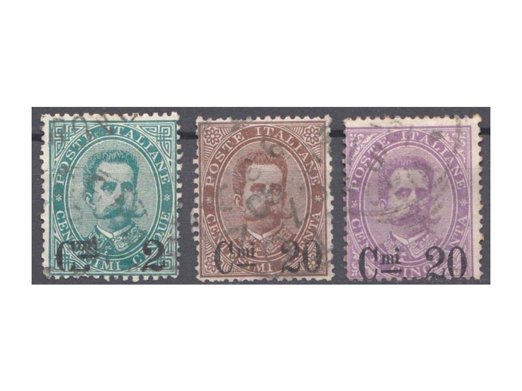 1890, 3 série, přetisková vydání, razítkované, stopy provozu