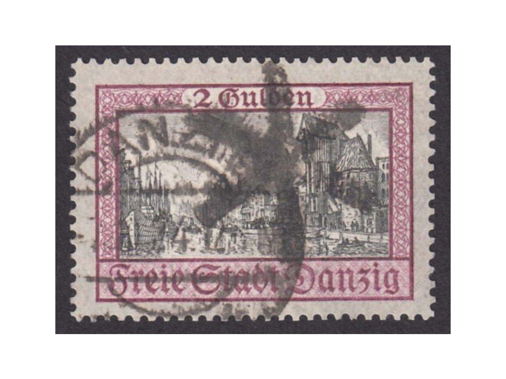 Danzig, 1924, 2G Kostel, MiNr.208, razítkované