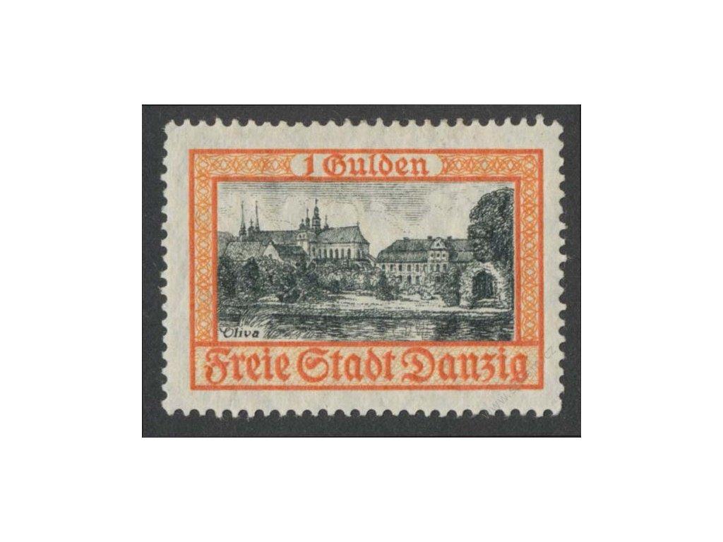Danzig, 1925, 1G Zámek, MiNr.212, * po nálepce