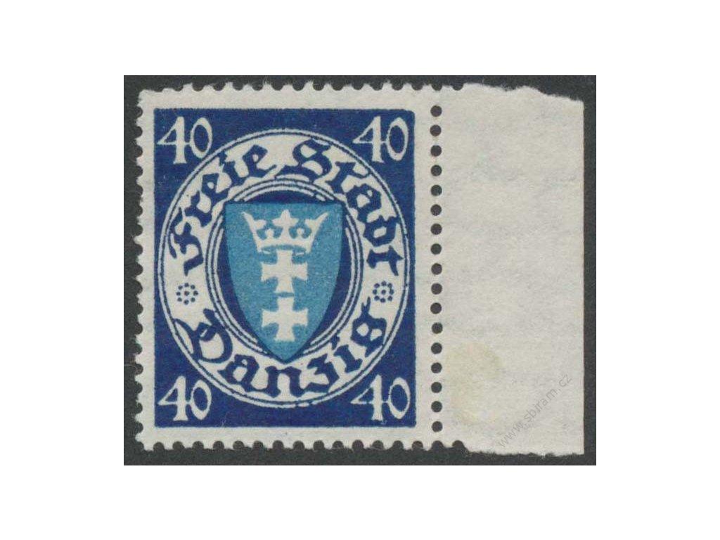 Danzig, 1924, 40Pf Znak, MiNr.199, kzy, **
