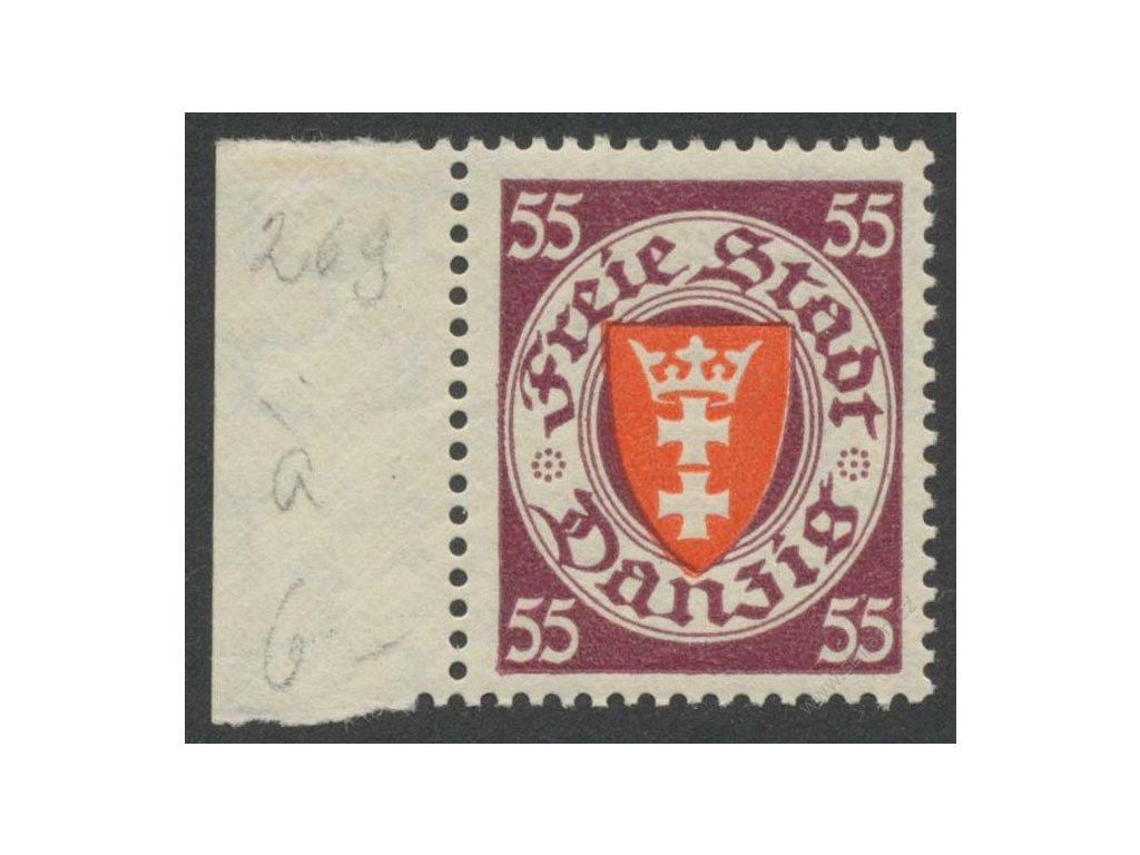 Danzig, 1937, 55Pf Znak, MiNr.269, **