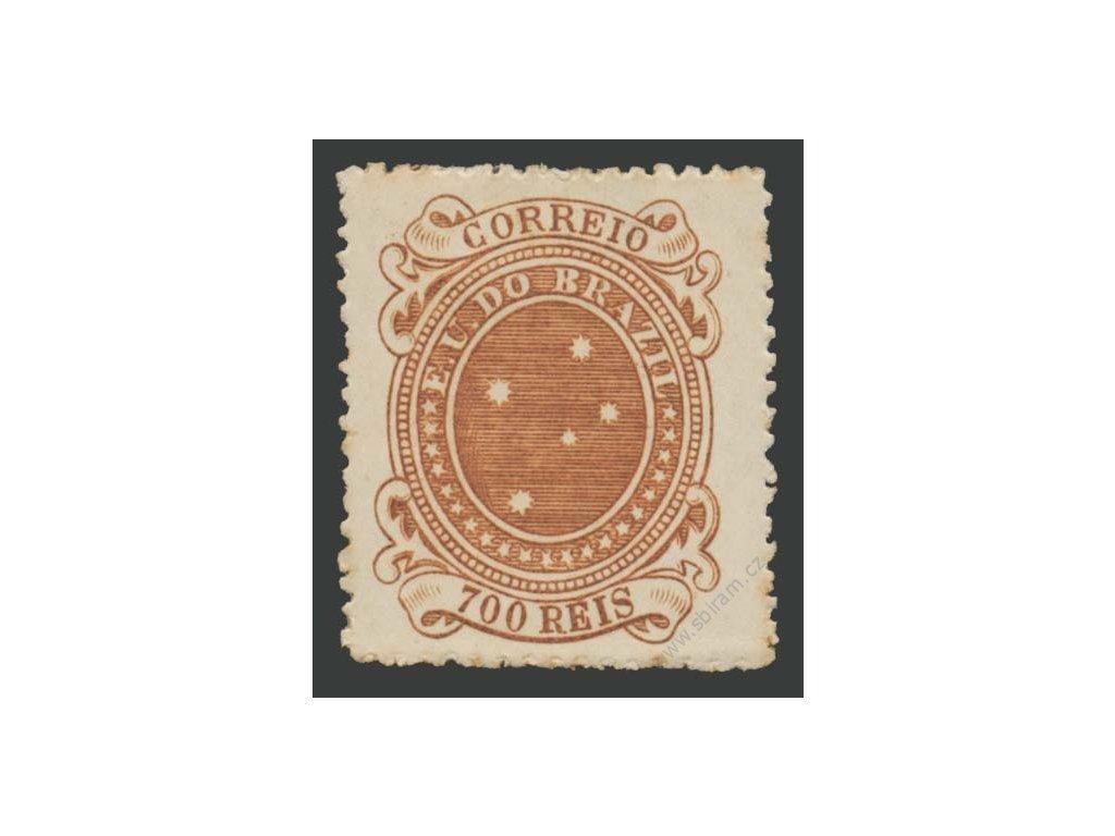 Brasílie, 1890, 700R Hvězdy, těžší * , několik skvrnek