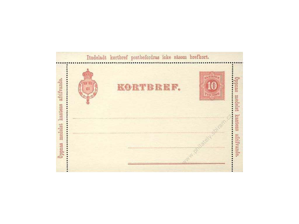 1891, zálepka 10Öre, neprošlé