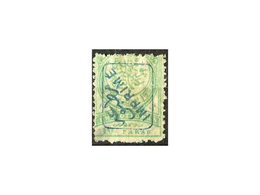1891, 10Pa Znak, modrý přetisk, (*)