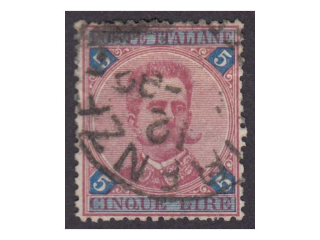 1891, 5L Umberto, MiNr.59, razítkované, nepatrně natrženo
