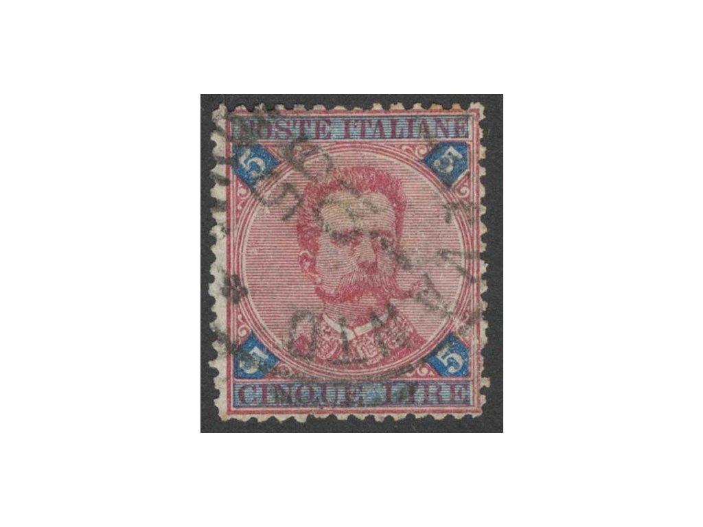 1891, 5L Umberto, MiNr.59, razítkované