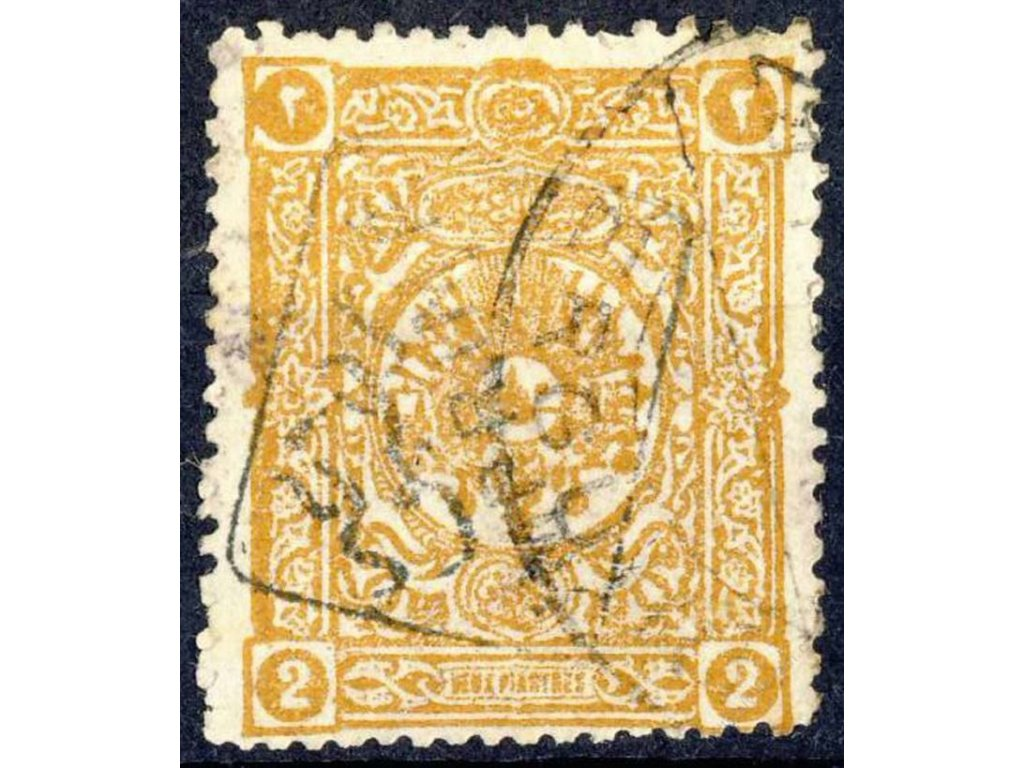 1892, 2Pia Znak s přetiskem, MiNr.77, razítkované