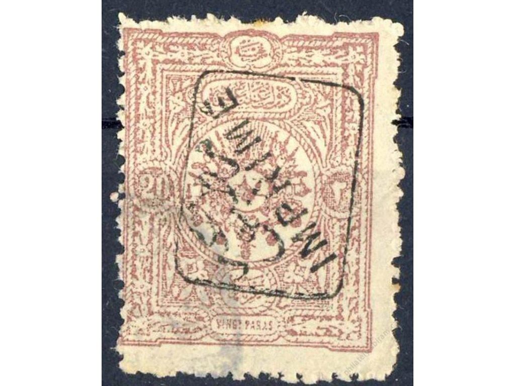 1892, 20Pa s přetiskem, MiNr.75, razítkované