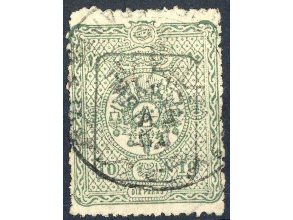 1892, 10Pa Znak s přetiskem, MiNr.74, razítkované