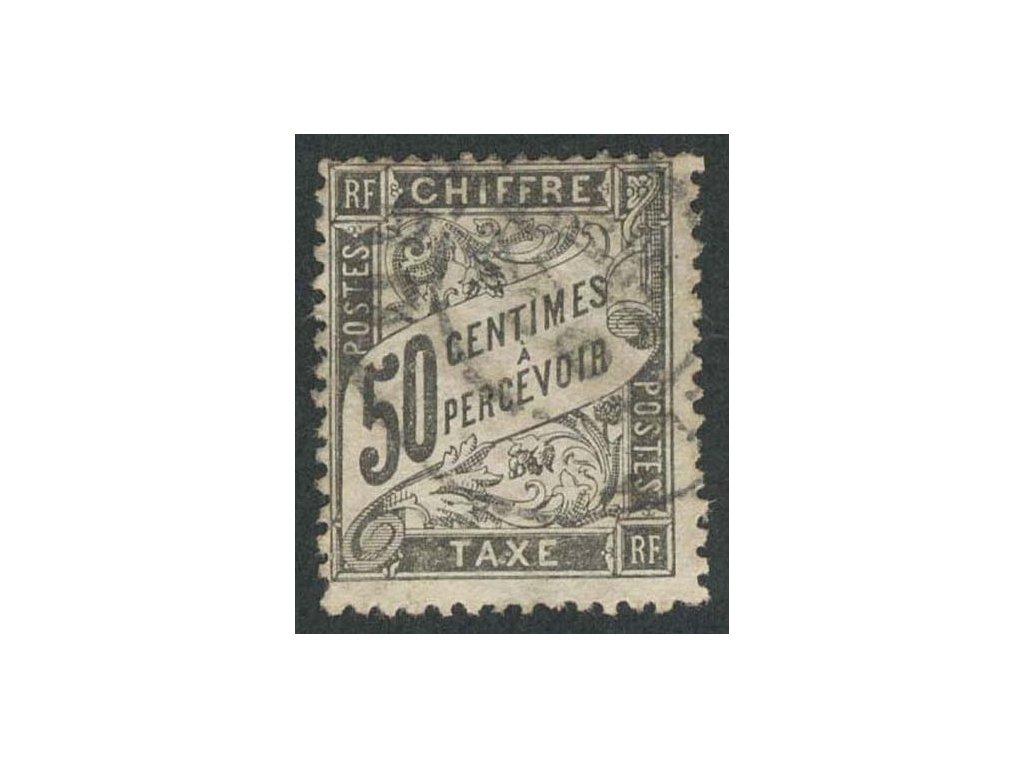 1892, 50C doplatní, MiNr.27, razítkované