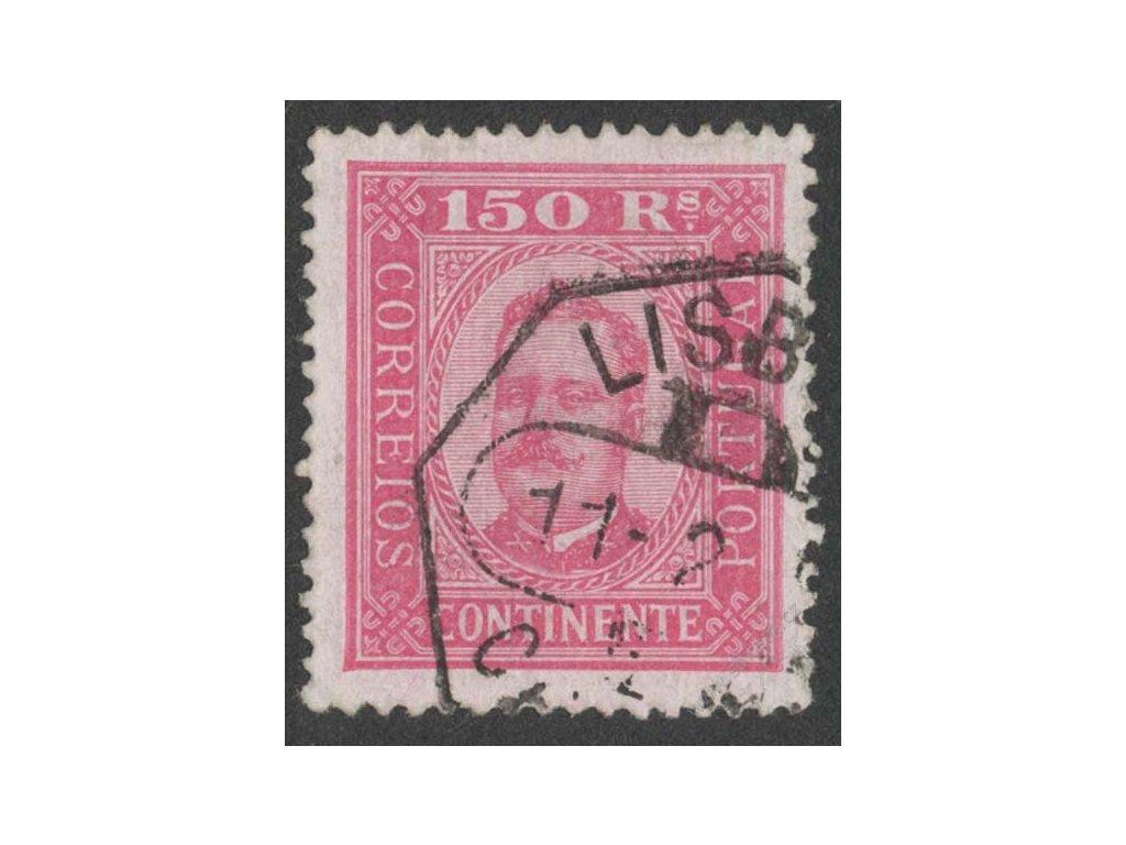 1892, 150R Carlos, MiNr.75yB, razítkované