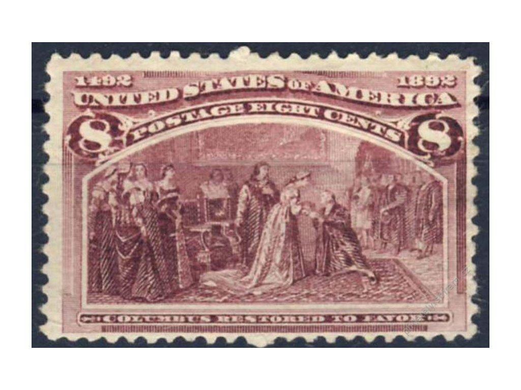 USA, 1893, 8C Kolumbus, Mi.75Euro, reparovaná *