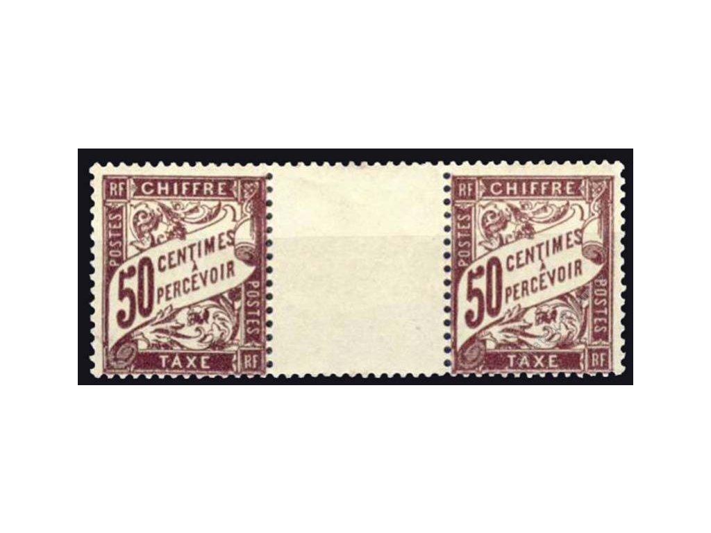 1893, 50C doplatní, meziarší, MiNr.33, **/*