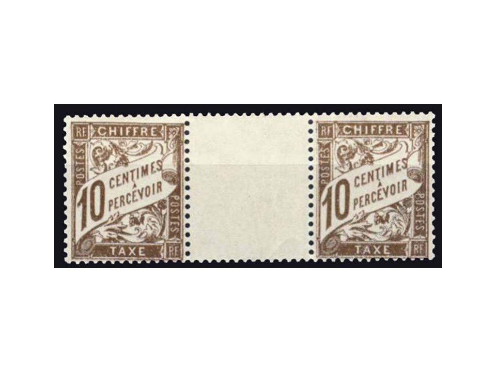 1893, 10C doplatní, meziarší, MiNr.29, **