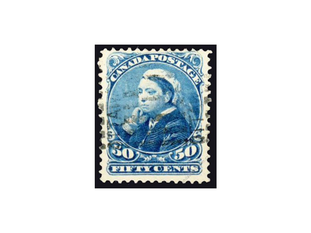 Kanada, 1893, 50C Viktoria, MiNr.37, razítkované