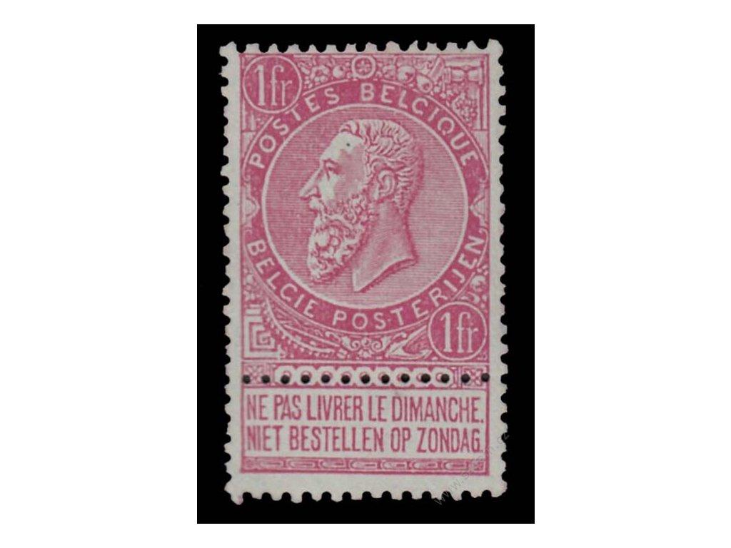 1893, 1Fr Leopold, MiNr.58, * po nálepce