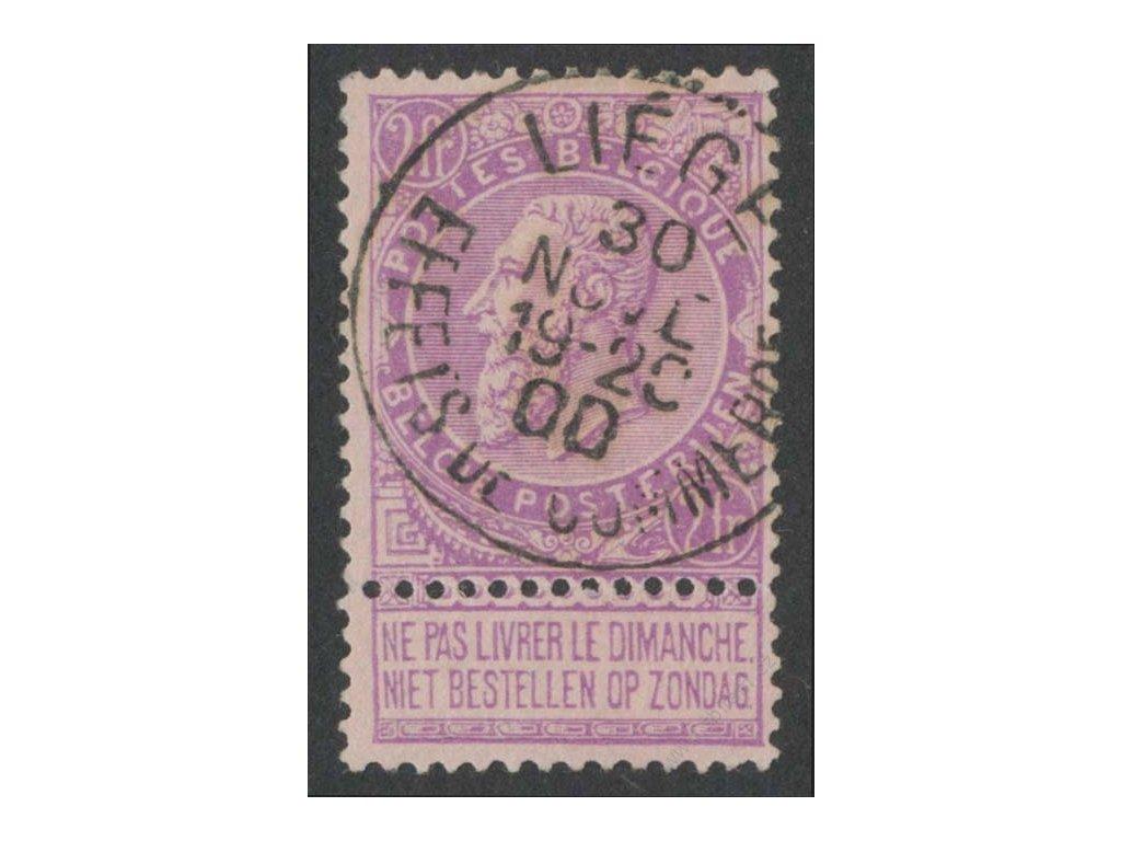1893, 2Fr Leopold, MiNr.59, razítkované
