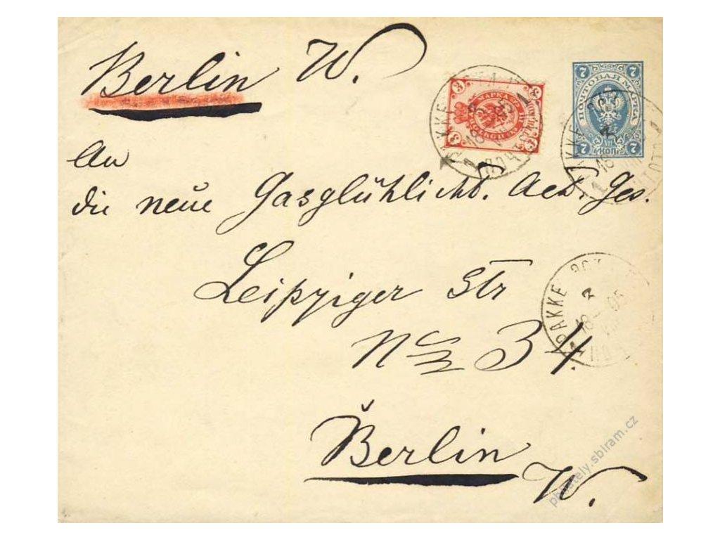 1895, DR Pakke, celinová obálka zasl. do Berlína